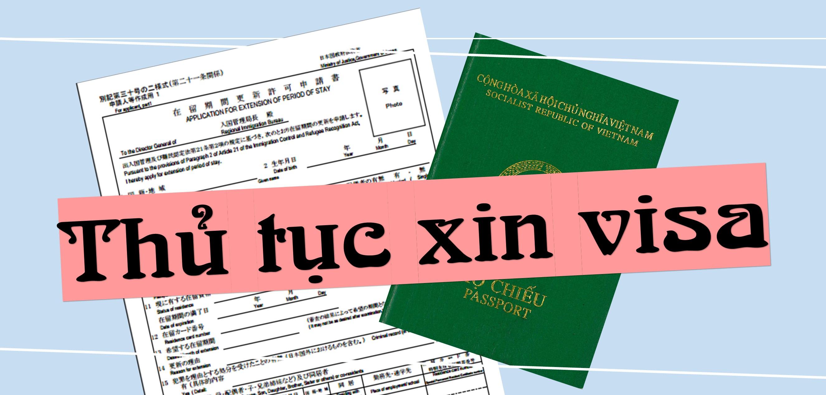 Thủ tục làm VISA Nhật Bản